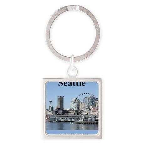 Seattle_2.3665x4.598_iPhone4_4SSwi Square Keychain