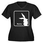 The Geeks Easter Women's Plus Size V-Neck Dark T-S