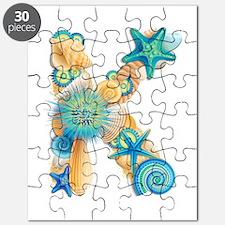 Beach Theme Initial K Puzzle