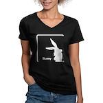 The Geeks Easter Women's V-Neck Dark T-Shirt