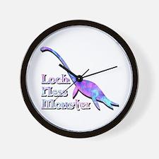 Loch Ness Monster Pastel Wall Clock