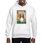 Monet's Spring & Basset Hooded Sweatshirt
