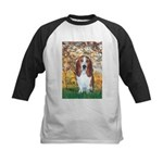 Monet's Spring & Basset Kids Baseball Jersey