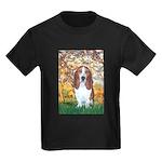Monet's Spring & Basset Kids Dark T-Shirt