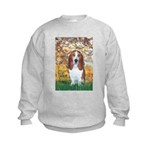 Monet's Spring & Basset Kids Sweatshirt