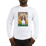 Monet's Spring & Basset Long Sleeve T-Shirt
