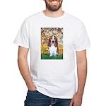 Monet's Spring & Basset White T-Shirt