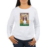 Monet's Spring & Basset Women's Long Sleeve T-Shir