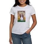 Monet's Spring & Basset Women's T-Shirt