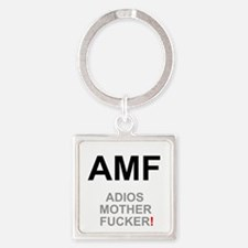 TEXTING SPEAK - - AMF ADIOS MOTHER Square Keychain
