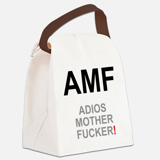 TEXTING SPEAK - - AMF ADIOS MOTHE Canvas Lunch Bag
