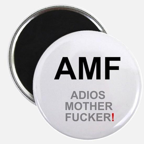 TEXTING SPEAK - - AMF ADIOS MOTHER FUCKER!  Magnet