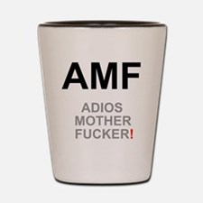 TEXTING SPEAK - - AMF ADIOS MOTHER FUCK Shot Glass