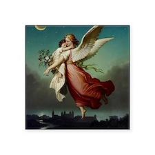 "Guardian Angel by Wilhelm V Square Sticker 3"" x 3"""