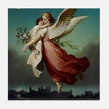 Guardian Angel by Wilhelm Von Kaulbac Tile Coaster