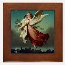 Guardian Angel by Wilhelm Von Kaulbach Framed Tile