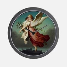 Guardian Angel by Wilhelm Von Kaulbach Wall Clock