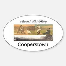 Cooperstown Americasbesthistory.com Sticker (Oval)