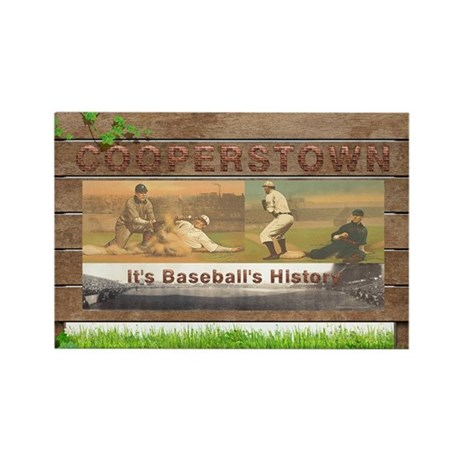 Cooperstown Americasbes Rectangle Magnet (10 pack)