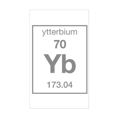 Ytterbium Rectangle Sticker