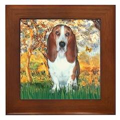 Monet's Spring & Basset Framed Tile