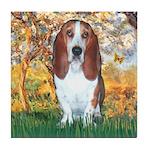 Monet's Spring & Basset Tile Coaster