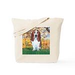 Monet's Spring & Basset Tote Bag