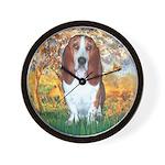 Monet's Spring & Basset Wall Clock