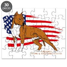 Amstaff USA flag Puzzle