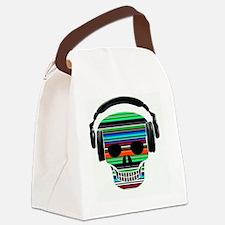 Skull Earphones Canvas Lunch Bag