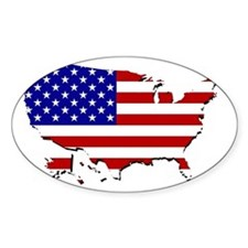 US Flag Map Decal