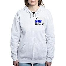 Its Now OClock (Blue) Zip Hoodie