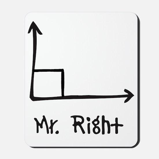 Mr Right Mousepad
