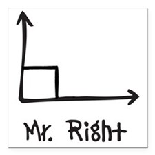 "Mr Right Square Car Magnet 3"" x 3"""