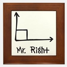 Mr Right Framed Tile