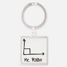 Mr Right Square Keychain