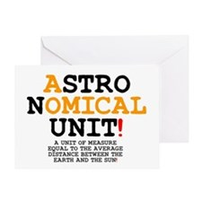 ASTRONOMY - ASTRONOMICAL UNIT AU Z Greeting Card