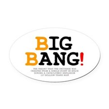 ASTRONOMY - BIG BANG! Z Oval Car Magnet