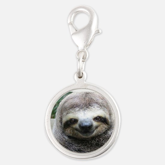 Killer Sloth Silver Round Charm