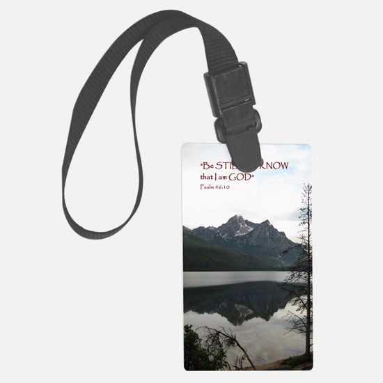 Be Still Sawtooth Mountains Luggage Tag