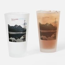 Be Still Sawtooth Mountains Drinking Glass