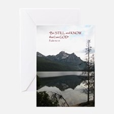 Be Still Sawtooth Mountains Greeting Card