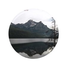 "Be Still Sawtooth Mountains 3.5"" Button"