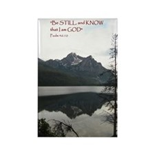 Be Still Sawtooth Mountains Rectangle Magnet