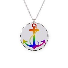 Rainbow Anchor Necklace