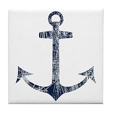 Retro Anchor Tile Coaster