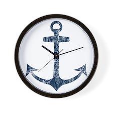 Retro Anchor Wall Clock