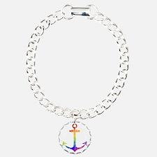 Retro Rainbow Anchor Bracelet
