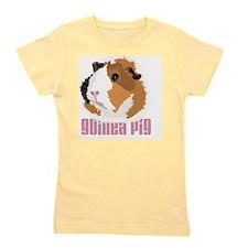 Retro Guinea Pig 'Elsie' (white) Girl's Tee