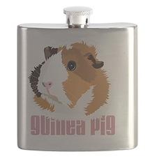 Retro Guinea Pig 'Elsie' (white) Flask